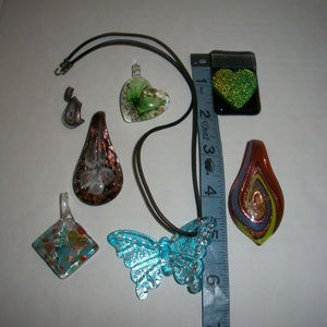 Jewelry - Murano Glass Necklace Pendant Lot